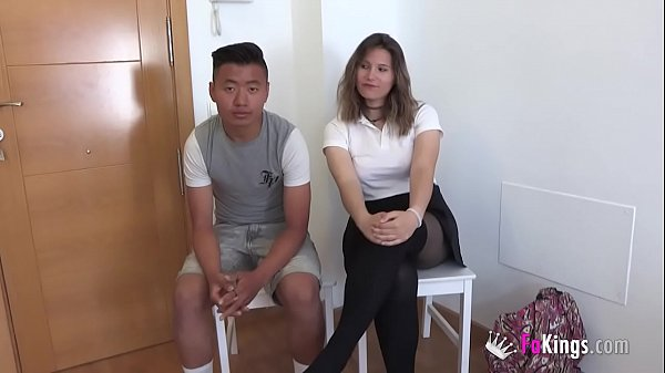 Big dicked Pepe and his mature MILF friend teach sex to a young school couple