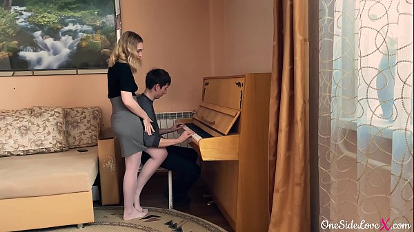 Instructor on the Piano Deep Sucking Dick Student and Fucking