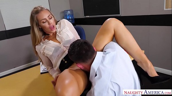 Naughty America – Find Your Fantasy Nicole Aniston fucking in the desk with her medium ass