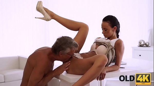 OLD4K. Hot sex is how old boss and his worker relax after workday
