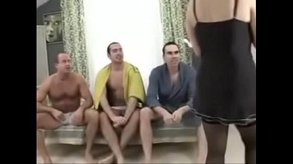 Sexy mother gangbanged by her son's friends