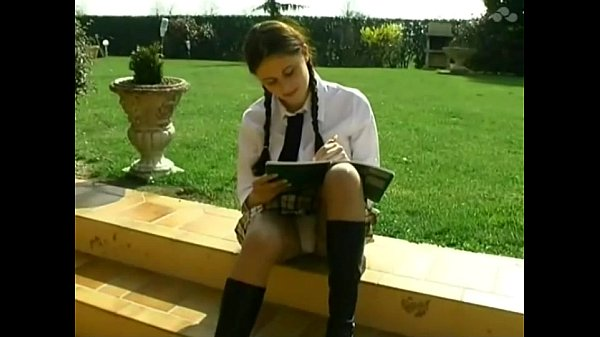 Student Lena gets anal outdoor lesson