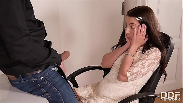 Teenage secretary Therese Bizarre gets her shaved pink pie fucked by boss