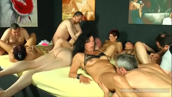 Ugly German real amateur swingers are having an orgy – part 2