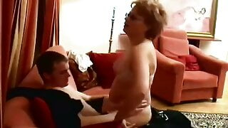 A grown son fucked his stepmother