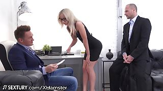 Bambi gets Double Dicked at the Office