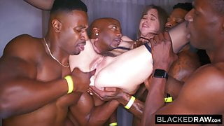 BLACKED RAW – My girlfriend got gangbanged at the after party