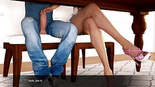 Blossoming Love – Handjob under the table (20)