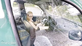 Blowjob In Car From Girlfriend Who Loves To Swallow Cum