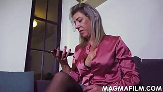 Boss lady demands anal sex from her employees