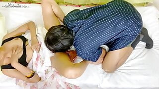 Cheating wife dropped at home and fucked by her friend