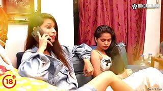 Desi real sisters have threesome sex with a young man