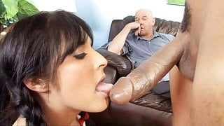 Father Has To Watch Her Daughter Chelsie Rae Fucks A BBC