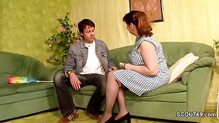 German Step Mom seduced to Fuck by Young Boy of her Friend