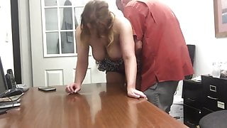Mature wife gets orgasm with her new boss