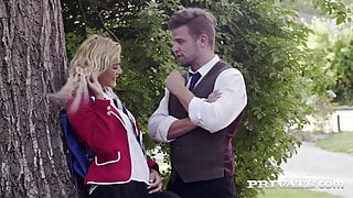 Private.com – Young School Girl Cherry Kiss DPd By Teachers!
