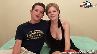 Real British amateur couple try porn for the first time