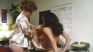 Vintage hairy lesbians in the office